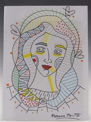 Romero Britto Drawing