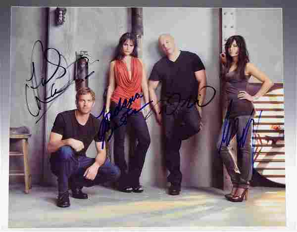 Fast and Furious Cast Signed Photograph