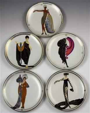 Erte Porcelain Plates