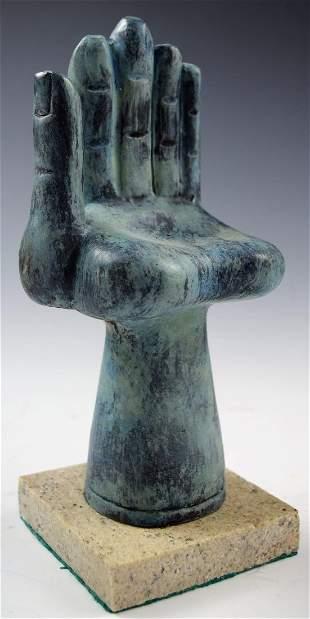 After Pedro Friedeberg Hand Foot Bronze Sculpture