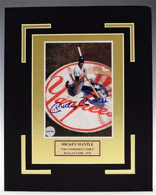 Mickey Mantle Signed Photograph