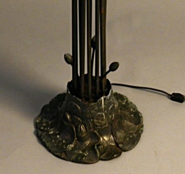 A Tiffany Style Twelve-Light Lily Floor Lamp - 4