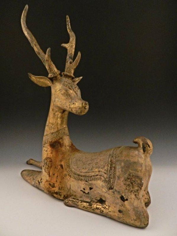 Han Dynasty Gilt Bronze Deer