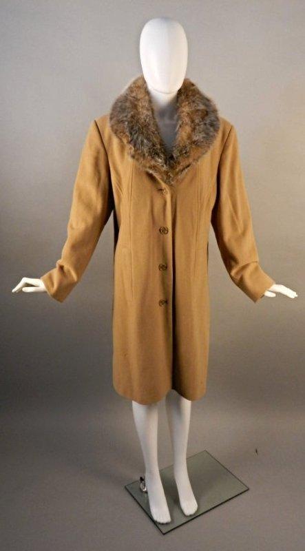 Ladies Winter Fur Wool Jacket