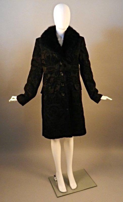 Ladies Fur Collared Coat
