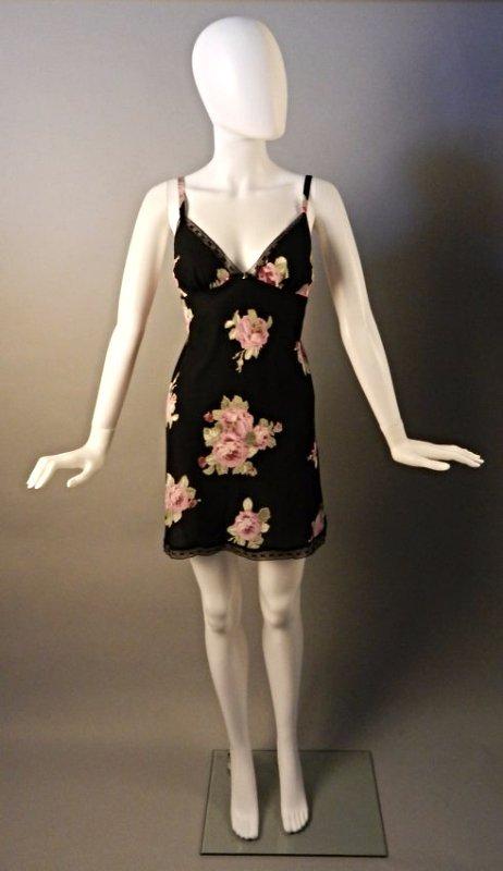 Oscar De La Renta Black Floral Dress