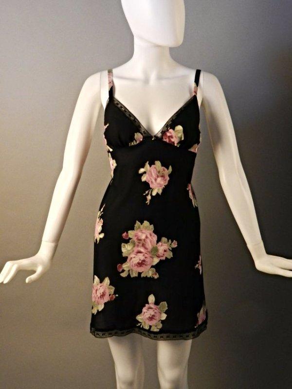Oscar De La Renta Black Floral Dress - 2
