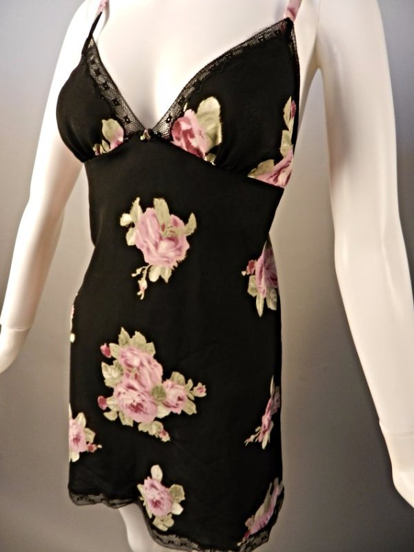 Oscar De La Renta Black Floral Dress - 3