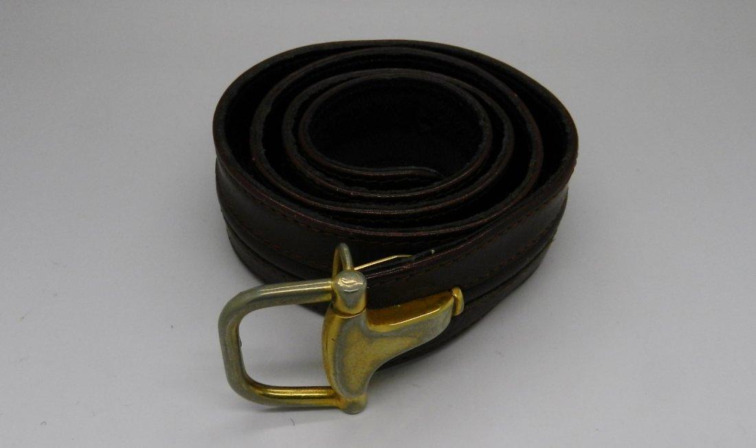 Gucci Burgundy Leather Belt