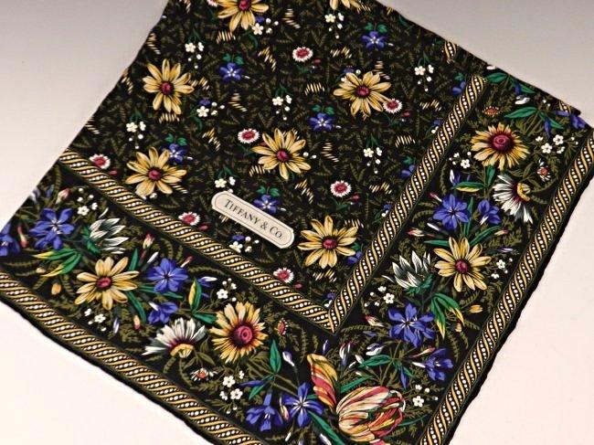 Vintage Tiffany & Co Silk Scarf