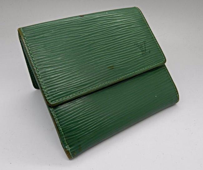 Louis Vuitton Green Leather Wallet