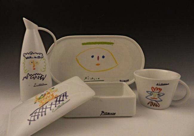 After Pablo Picasso Ceramic Set