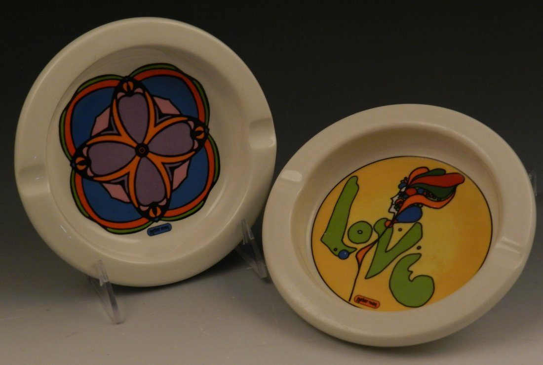 Vintage Peter Max Ashtrays