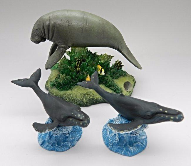Grouping of Robert Wyland Marine Sculptures