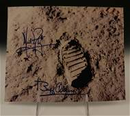Neil Armstrong Buzz Aldrin Signed Apollo Photograph