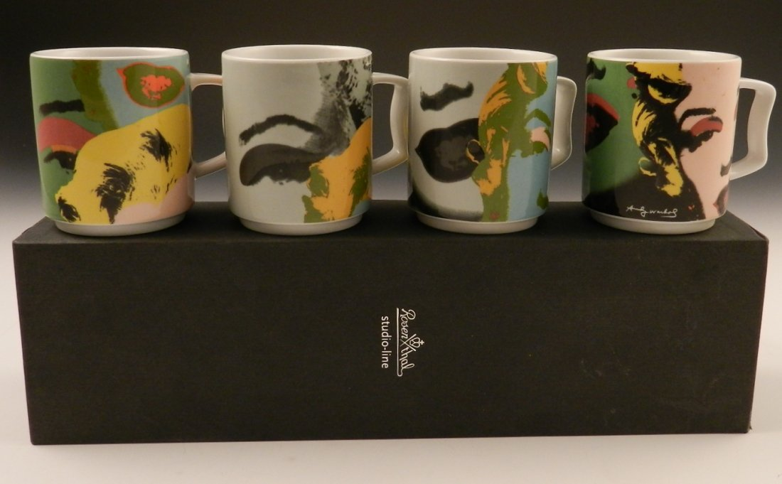 Andy Warhol Rosenthal Mugs, Marilyn Monroe