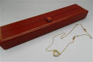 Cartier 18k Heart Necklace