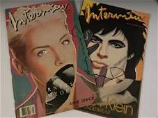 Andy Warhol Signed Interview Magazines