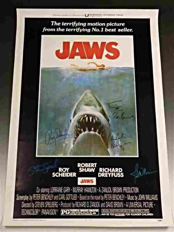 Jaws Cast Signed Poster