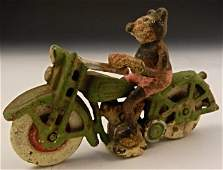 Vintage Mickey Mouse Cast Iron Motorcycle