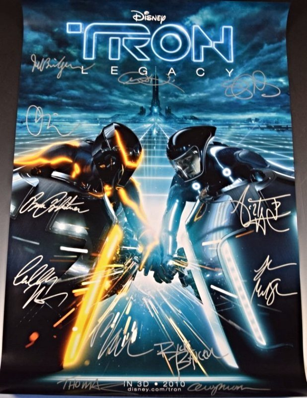 Tron Legacy Cast Signed Movie Poster