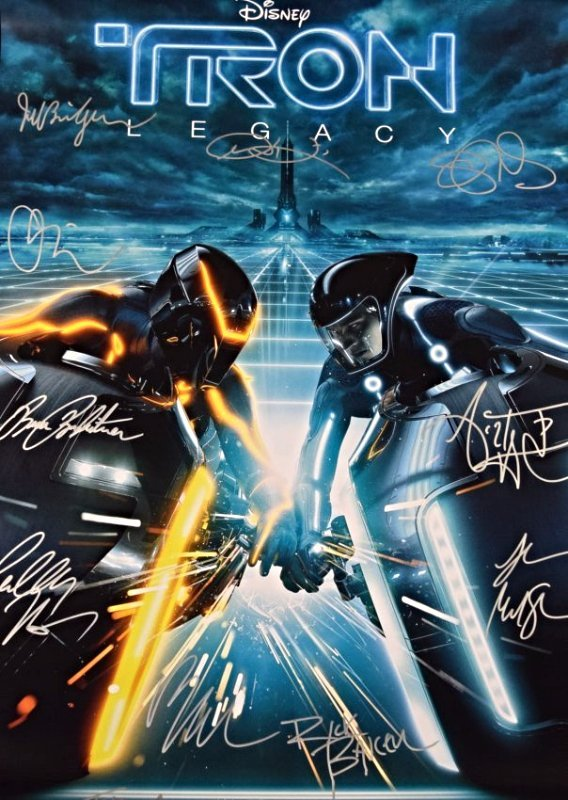 Tron Legacy Cast Signed Movie Poster - 2
