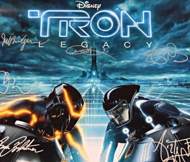 Tron Legacy Cast Signed Movie Poster - 3
