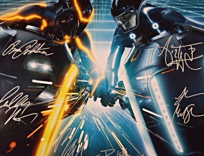 Tron Legacy Cast Signed Movie Poster - 4