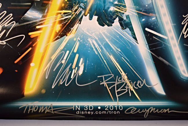 Tron Legacy Cast Signed Movie Poster - 5