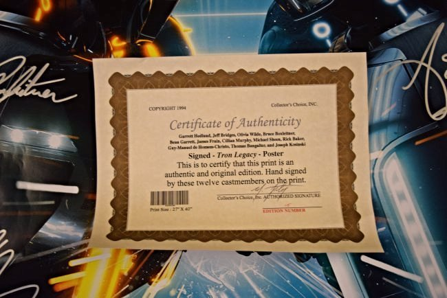 Tron Legacy Cast Signed Movie Poster - 6