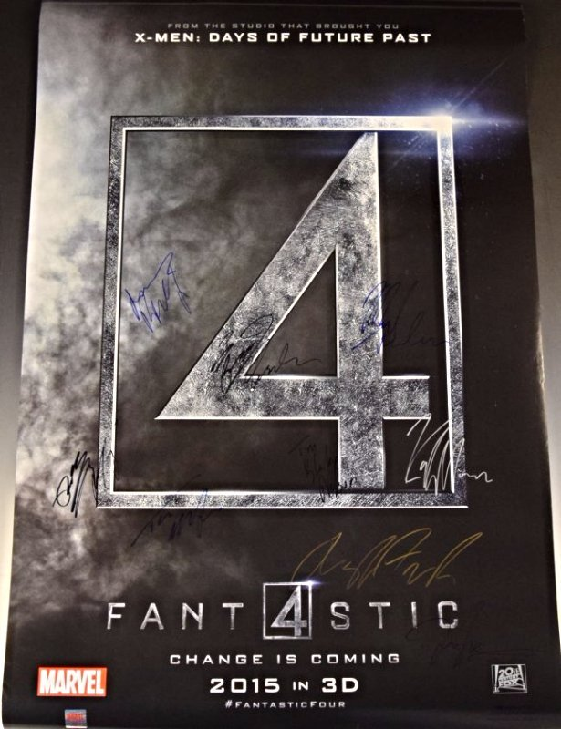 Fantastic Four Cast Signed Movie Poster