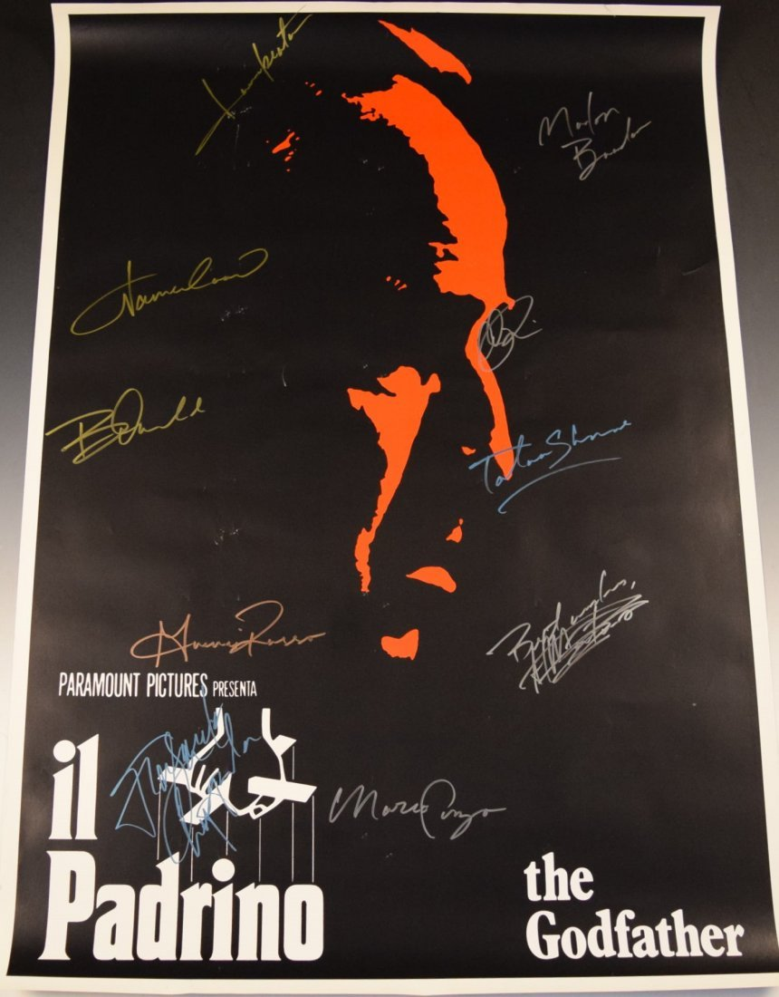 Godfather Cast Signed Movie Poster