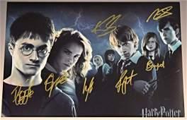 Harry Potter Cast Signed Photograph