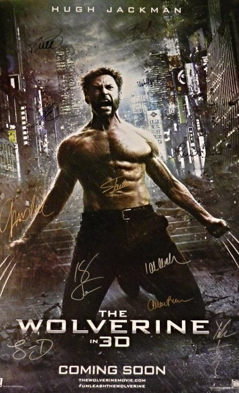 The Wolverine Cast Signed Poster