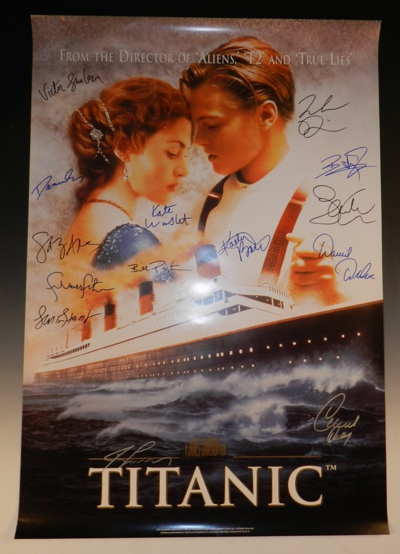 Titanic Cast Signed Poster