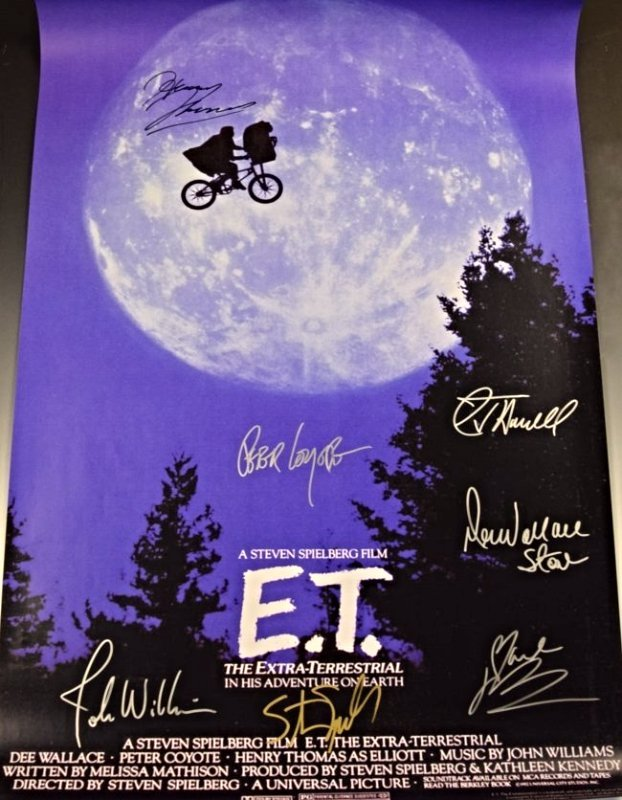 E.T. Cast Signed Movie Poster