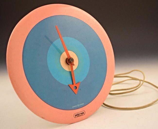 Vintage Peter Max Clock