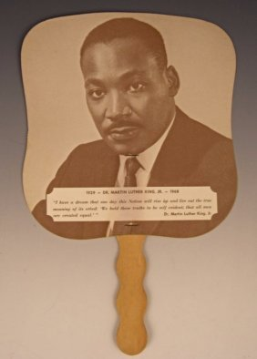 Martin Luther King Jr Williams Funeral Paper Fan