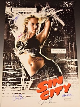 Sin City Cast Signed Movie Poster