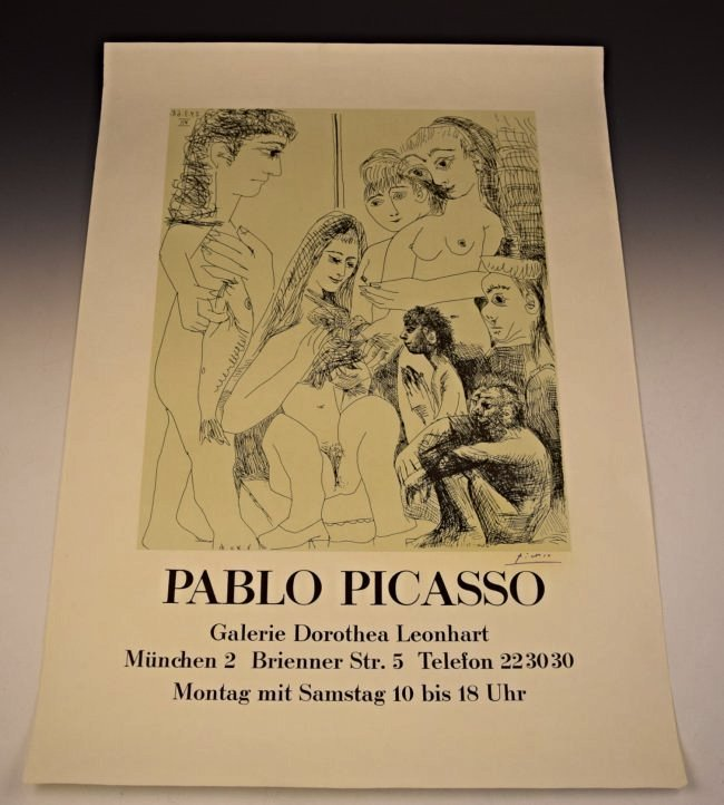 Pablo Picasso Signed Galerie Poster