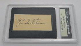 Jackie Robinson Digital Autograph