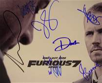 Fast And Furious Cast Signed Photo