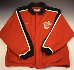 Miami Heat Wade Game Used Jersey Jacket