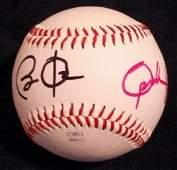 Obama  Oprah Signed Baseball
