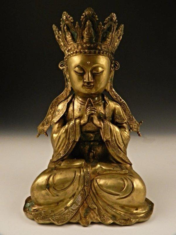 Chinese Qianlong Bronze Buddha