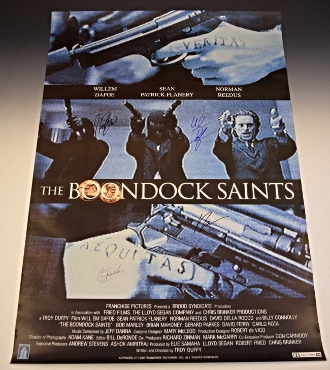 The Boondock Saints Cast Signed Movie Poster