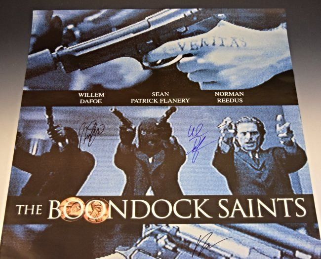 The Boondock Saints Cast Signed Movie Poster - 2