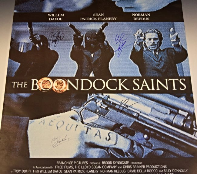 The Boondock Saints Cast Signed Movie Poster - 3