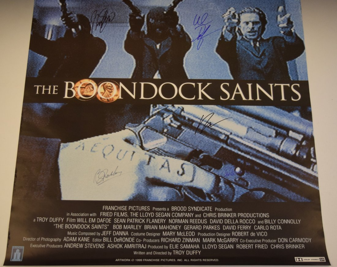The Boondock Saints Cast Signed Movie Poster - 4