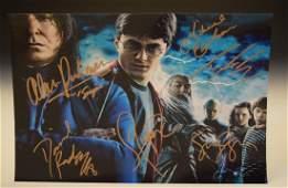 Harry Potter Cast Signed Movie Photograph